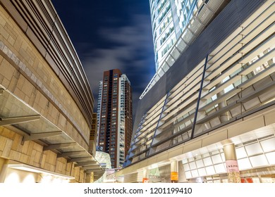 TOKYO, JAPAN - MARCH 22, 2017 : Buildings around Roppongi Hills is a development project in Tokyo , located in the Roppongi district of Minato, Tokyo.