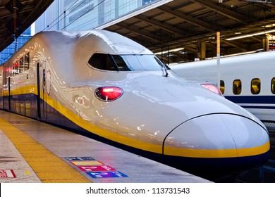 TOKYO, JAPAN - MARCH 24: Shinkansen in Tokyo, Japan on March 24, 2012. Japan's main islands, are served by a network of high speed train lines that connect Tokyo with most of the major cities.