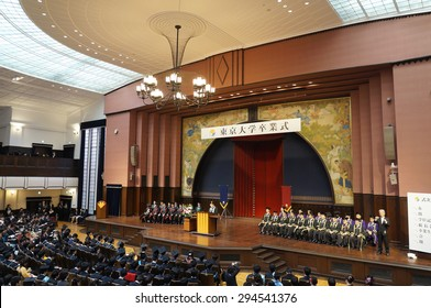 Tokyo, Japan - March 26: The graduation ceremony of the University of Tokyo, Japan on March 26, 2015. The University of Tokyo is the first ranked research university in Asia.