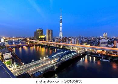 TOKYO, JAPAN - MAY 10, 2019 : Tokyo Skytree . Tokyo Skytree is a broadcasting tower and the tallest structure in Japan.