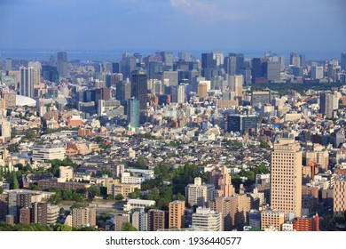 TOKYO, JAPAN - MAY 11, 2012: Sunset light view of Chiyoda and Chuo wards, Tokyo, Japan. The Greater Tokyo Area is the most populous metropolitan area in the world (38 million people).