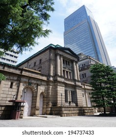 TOKYO, JAPAN - MAY 11: Bank of Japan (Nippon Ginko) building in Ginza, Tokyo, on May 11, 2014. Nippon Ginko  issues Japanese currency.