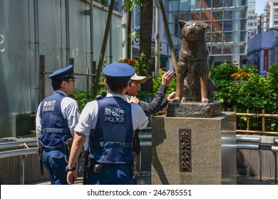 TOKYO, JAPAN - May 11 :Unidentified man were arrested by the police on May 11,2014 in Tokyo,Japan