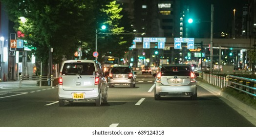 TOKYO, JAPAN - MAY 12TH, 2017. Private cars in streets of Tokyo, Japan.