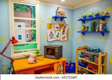 TOKYO, JAPAN - MAY 14: Toy Story room display showing in Tokyo Disneystore located at Shibuya, Tokyo