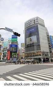 TOKYO, JAPAN - May 15, 2017 : Around  Shibuya Station Tokyo.  Shibuya is one of fashion centers for young people. The scramble intersection in front of the station is very popular for the travelers.