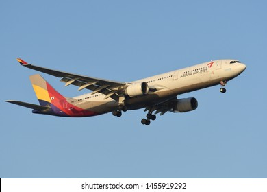 Tokyo, Japan - May 25, 2019:Asiana Airlines Airbus A330-300 (HL7747) passenger plane.