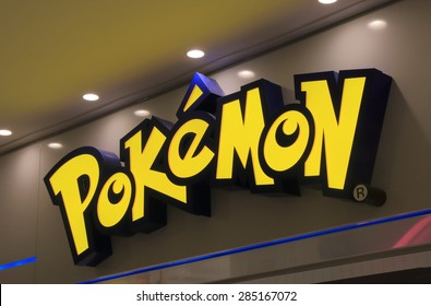 TOKYO JAPAN - MAY 9, 2015: Pokemon Japanese animation. Pokemon is a fictional creature created by Satoshi Tajiri in 1995
