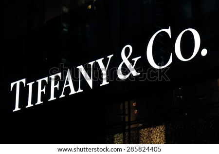 2d8649fcb TOKYO JAPAN - MAY 9, 2015: Tiffany and Co. Tiffany and Co is an American  worldwide luxury jewellery and speciality retailer headquartered in New  York.