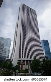 Tokyo, Japan - May 9 2017: The elegant design of Sompo Japan Building in Shinjuku.