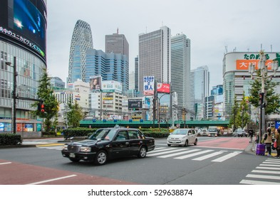 Tokyo, Japan - November 21, 2016 : Shijuku district.Shinjuku is a special ward located in Tokyo Metropolis, Japan. It is a major commercial and administrative centre