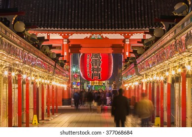 Tokyo, Japan - November 22,2015 : Tourists visit Senso-ji Temple in Tokyo,Japan.The Senso-ji Buddhist Temple is the symbol of Asakusa and one of the most famous temples of Japan.