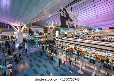 Tokyo, Japan - November 23, 2018 : Edo Market Place in Tokyo, A part of Haneda international airport that sells all kind of Japanese products for tourist