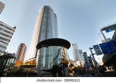 TOKYO, JAPAN - NOVEMBER 23: People visit the  Mori Tower in Roppongi Hills on September 18, 2013, Roppongi Hills is one of Japan's largest integrated property developments in Roppongi district.