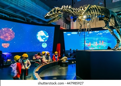 TOKYO, JAPAN - NOVEMBER 25 2015: National Museum of Nature and Science offers a wide variety of natural history exhibitions and interactive scientific experiences