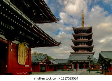 Tokyo, Japan - Oct 28 2018 Sensoji Temple or Asakusa Kannon Temple.