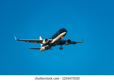 TOKYO, JAPAN - OCT. 7, 2018: Star Flyer Airbus A320-200 landing to the Haneda International Airport in Tokyo, Japan.