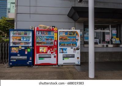 TOKYO  , JAPAN - OCTOBER 13 ,2016 :  Drink Automatic vending machine at Tokyo Japan.