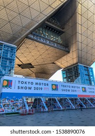 TOKYO, JAPAN - OCTOBER 2019: The Tokyo Motor Show 2019 car exhibition at the Tokyo Bight Sight in Japan
