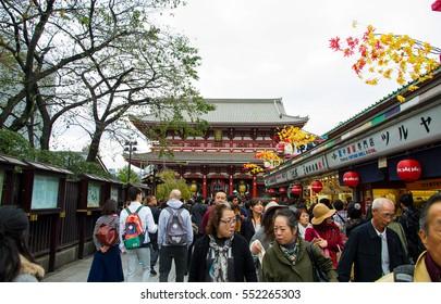 TOKYO , JAPAN -  October 30, 2016 : People travel visit Senso-ji shrine Asakuza temple