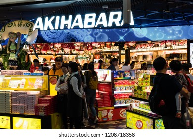 Tokyo, Japan - October 9, 2018: people are buying their last souvenirs and foods to take home to their families abroad