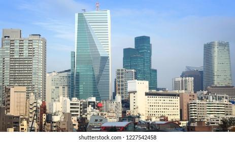 Tokyo, Japan - office building skyline in Roppongi district.