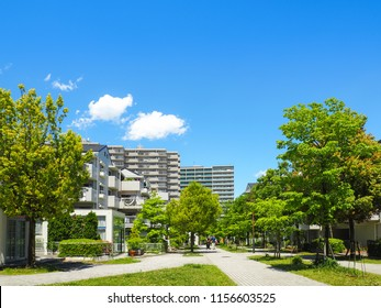 Tokyo, Japan: Quiet residential area outside the commercial district of Central Tokyo