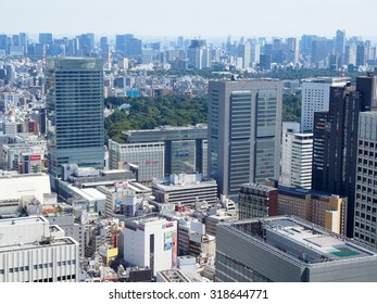TOKYO, JAPAN - SEP 20: Shinjuku business district in Tokyo, Japan on September 20, 2015. Tokyo is both the capital and largest city of Japan.