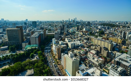 Tokyo, Japan - Sep 29, 2017. Cityscape of Shibuya District in Tokyo, Japan. Tokyo emerged as a leading international financial center (IFC) in the 1960s.