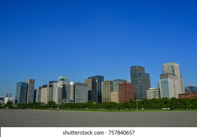 Tokyo, Japan - Sep 29, 2017. Cityscape of Tokyo, Japan. The Tokyo region is Japan leading industrial center, with a highly diversified manufacturing base.