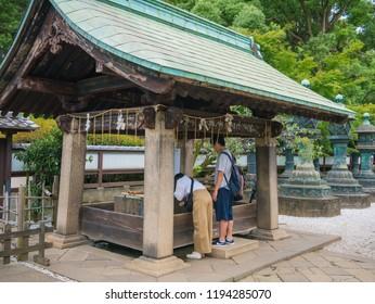 Tokyo, Japan. September 10, 2018. Ueno Toshogu shrine built in 1616, one of Toshogu shrines across the country that dedicated to Tokugawa Ieyasu, the founder of the Edo Shogunate