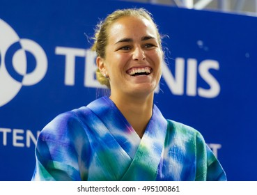 TOKYO, JAPAN - SEPTEMBER 20 : Monica Puig at the 2016 Toray Pan Pacific Open WTA Premier tennis tournament