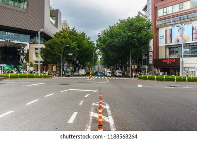 Tokyo, Japan - September 21, 2018 : Harajuku district in Tokyo, Japan. one of the centers of fashion and culture in Japan