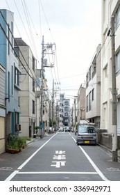 Tokyo, Japan - September 24: Streets of Tokyo, Japan on September 24 2015. Tokyo is the most populous metropolitan area in the world, the capital and the largest city of Japan.