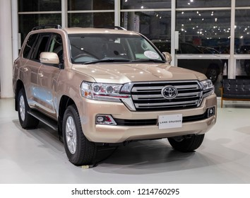 Tokyo, Japan - September 6, 2018. 2018 model new Toyota Land Cruiser concept car is displaying at Toyota Heartful Plaza in Tokyo.