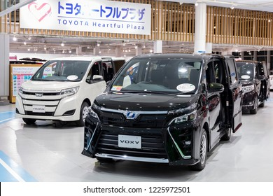 Tokyo, Japan - September 6, 2018: Toyota Voxy is displaying at Toyota Heartful Plaza, produced by Japanese automaker Toyota.