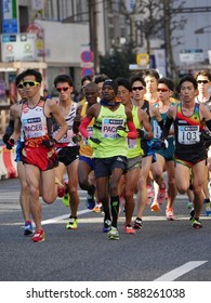 Tokyo, Japan-February 26, 2017:Marathon race in Tokyo