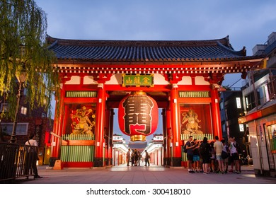 TOKYO -july 3 2015 : people shopping street in Asakusa connect to Senso-ji Temple in Asakusa, The Senso-ji Temple in Asakusa is the most famous temple in tokyo.