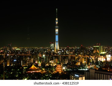 TOKYO -JUN 3: Beautiful of Tokyo skyline on June 3rd, 2016, Tokyo, Japan. Tokyo, the largest city of Japan, became the capital in 1868.