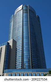TOKYO - JUNE 2, 2010: Mori Tower stands at the center of Roppongi Hills in Tokyo. Opened in 2003, this 54-floor building is 238 m high and houses stores, restaurants, offices and a museum.