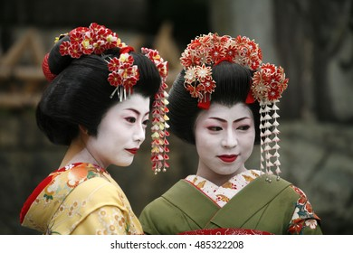 Tokyo Kyoto, Japan, 21 January 2007. Girls in traditional Maiko dress, Tokyo Kyoto, Japan, 21 January 2007.