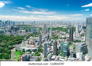 Tokyo landscape · city center