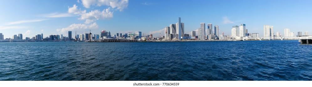 Tokyo landscape panorama