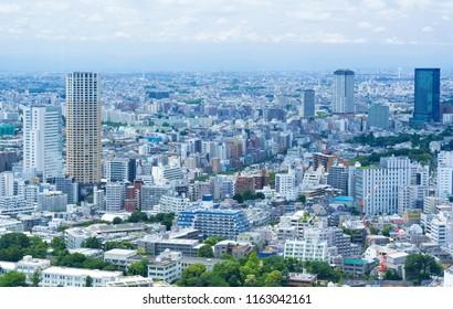 Tokyo landscape · Shibuya city bird's eye view