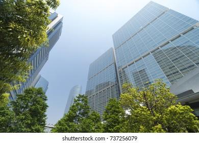 Tokyo landscape Shinagawa Tall Building Group