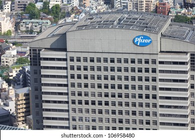 TOKYO - MAY 11: Pfizer building on May 11, 2012 in Tokyo. Pfizer is one of largest pharmaceutical companies worldwide with tremendous revenue $67.4 bn USD for 2011. It exists since 1849.
