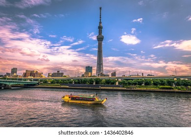 Tokyo - May 19, 2019: Tokyo Skytree tower in Asakusa, Tokyo, Japan