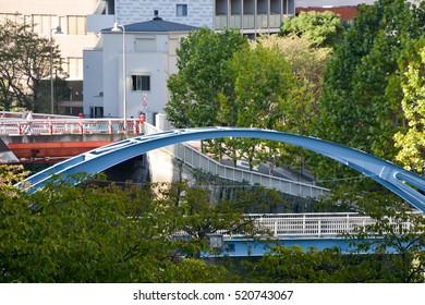 Tokyo, Meguro River's bridge