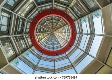 Tokyo, Minato ward - Nobember 17, 2017 : Inside view of National Art Center Tokyo (NACT) (Kokuritsu Shin-Bijutsukan). Designed by Kisho Kurokawa, Located in Roppongi District