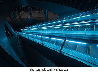 Tokyo night escalator
